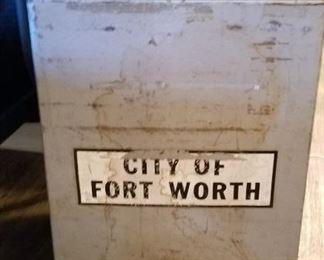 Vintage City of Fort Worth Ballot Box