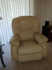 Leather Recliner (2 Available) One is a smaller scale.