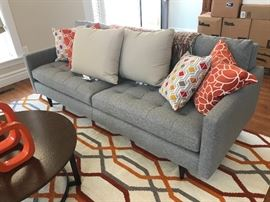 Crate & Barrel Petrie MCM Style Sofa