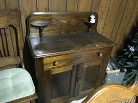 This is a late 1800's pine commode.