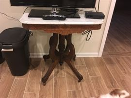 I love this great Victorian lamp table circa late 1800's -- in great shape!