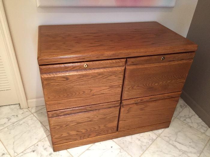 Baker Road oak filing cabinet