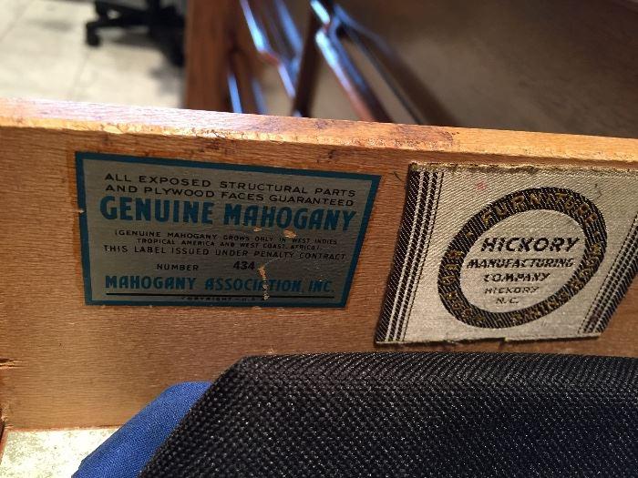 Small Mahogany MCM Dressers from Hickory Mfg.