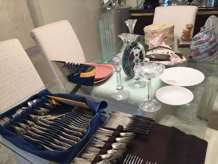 """""""Diamond"""" by Reed & Barton. 12 pc set. Early production"""