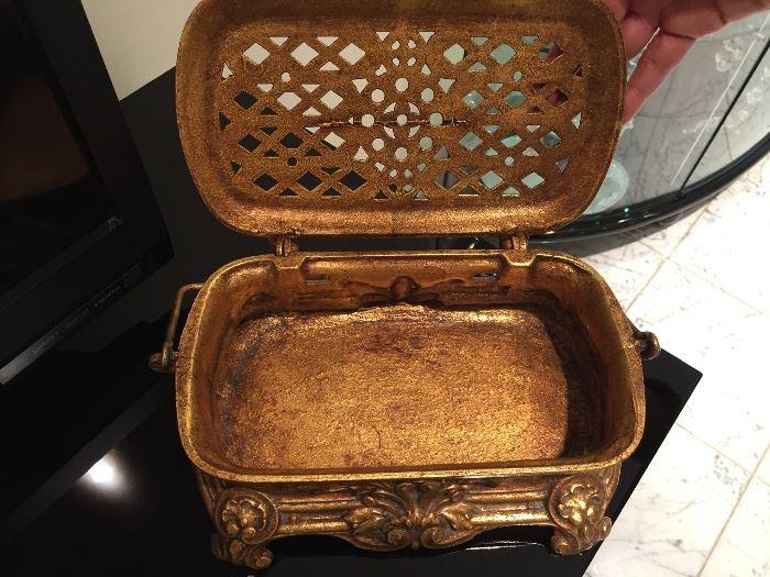 Antique Cast Metal Box