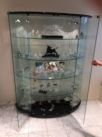 4 Tier Glass lighted Curio