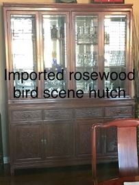 Imported Rosewood bird scene hutch