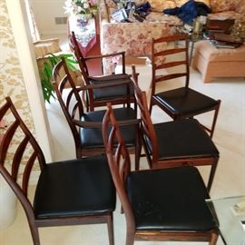 Arne Vodder Mid Century Rosewood Dining Chairs