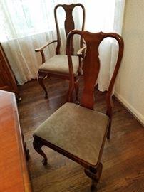queen anne thomasville chairs