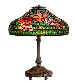 """Tiffany Studios, New York, """"Peony"""" Table Lamp"""