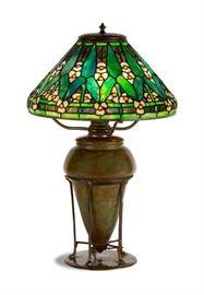Tiffany Studios, New York, Arrowroot Table Lamp