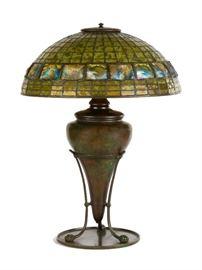 "Tiffany Studios, New York, ""Turtleback"" Table Lamp"