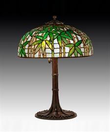 "Tiffany Studios, New York,""Bamboo"" Table Lamp"
