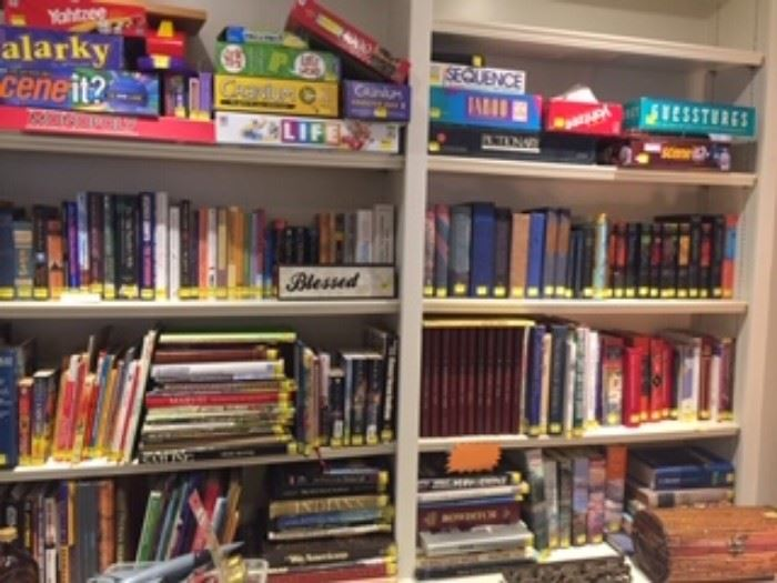 LOOK at all the BOOKS and GAMES