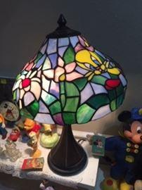 Cartoon Collectible Tiffany Glass Lamp like