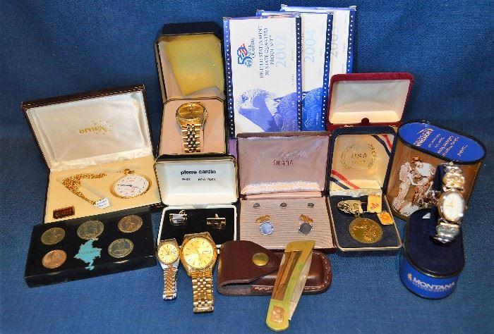 Watches, Coins, Cufflinks
