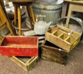 ASSORTED HANDMADE. WOODEN BOXES
