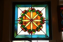 Beautiful old stained glass window.