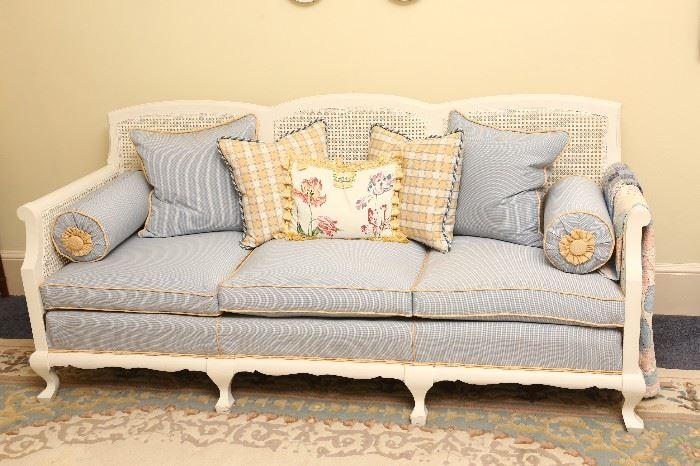 Closer look at sofa.