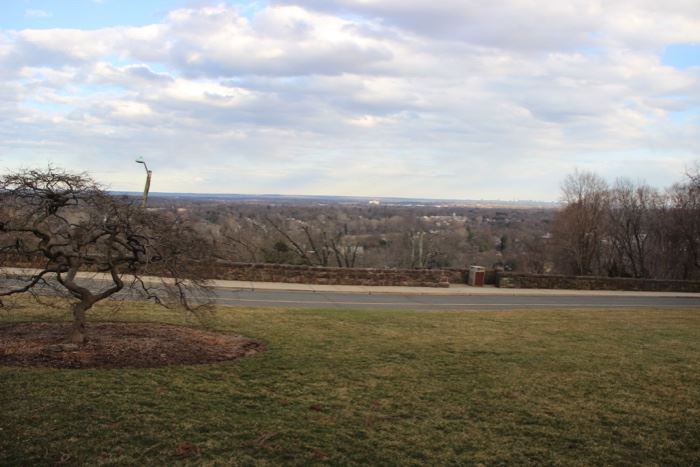 View of Ridgewood and beyond from the front yard