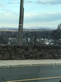 View of NYC from the front yard...