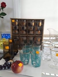 vintage beverage glasses