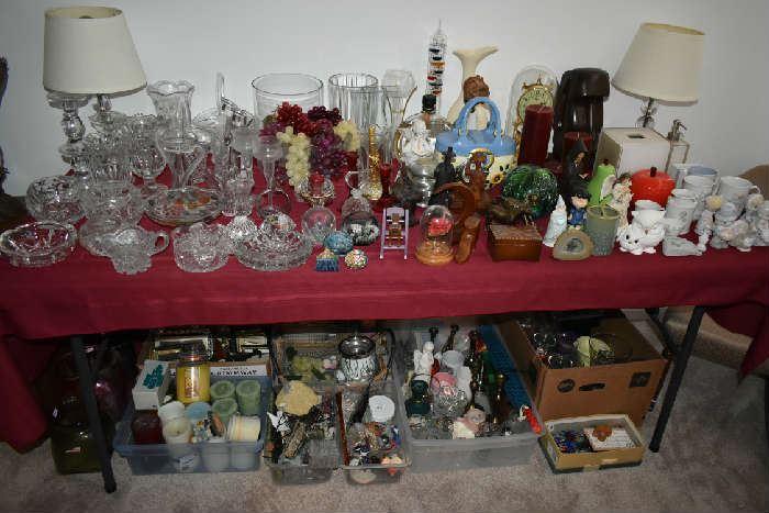 CLEAR GLASS/DECOR/LAMPS/PRECIOUS MOMENTS