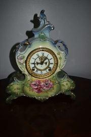 GERMAN PORCELAIN CLOCK