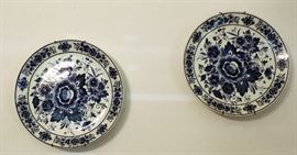 BLUE AND WHITE PORCELAIN PLATES