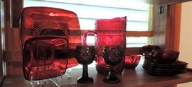 RUBY RED GLASSWARE