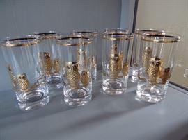 Culver Glass Company Owl Highball - Set of 8