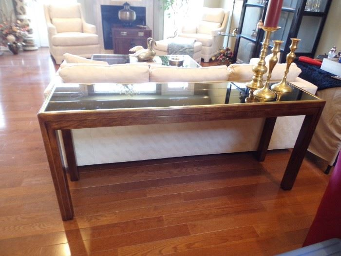 Henredon Mirror-top Sofa Table