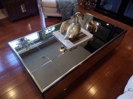 Henredon Mirror-top Coffee Table