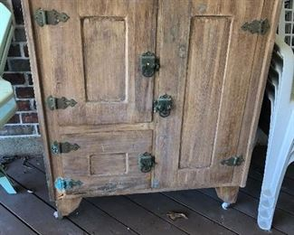 Antique fridge -makes for great storage!