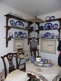 Collection of Flow Blue & Blue & White China