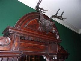 detail of Carved Stag
