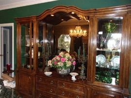 Large Display Cabinet, mirror back & lighted