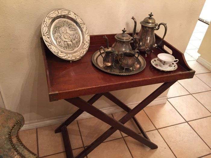 Serving Tray and Silver