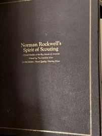 Norman Rockwell's Spirit of Scouting sterling silver proof medals