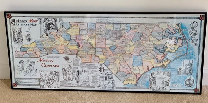 "Malone's ""New Literary Map of North Carolina"""
