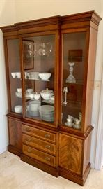 beautiful Hickory Furniture flame mahogany china cabinet