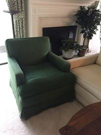 Pair of Green Arm Chairs,