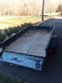 Trailer 5 x 8.  Has title.  This item may sell before sale weekend.  Please ask for details.