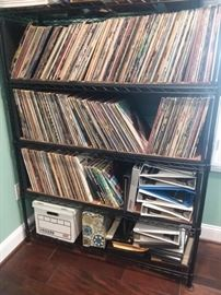 Hundreds of LPs.  Lots of rock and modern jazz.