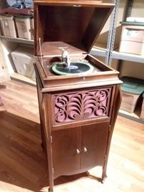 Antique phonograph player.  Plays nicely.