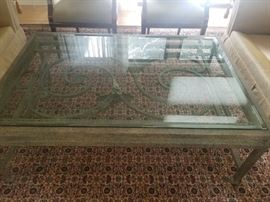 GLASS AND IRON COFFEE TABLE 195.00