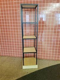 5 Tier Wood and Metal Shelf