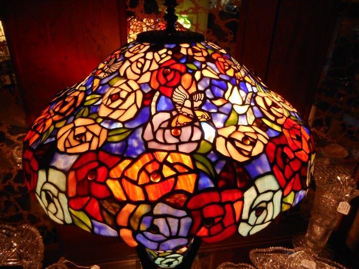 Acrylic Satin Faux Tiffany Lamp. Gorgeous..