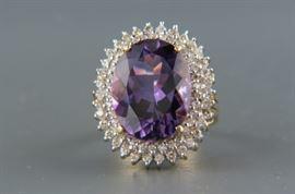 Amethyst Daimond Ring