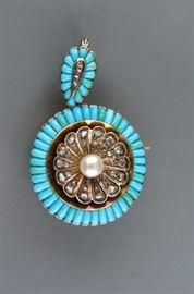 Antique Turquoise Diamond
